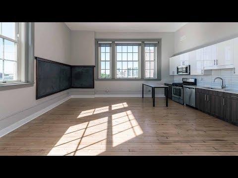 A large 3-bedroom, 2-bath at Uptown's new Stewart School Lofts