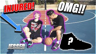 Basketball Challenge Gone Wrong with Jesser from 2HYPE! Loser buys Winner ANY shoes!