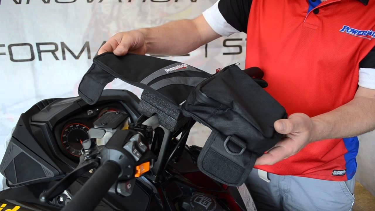 """73602 HAT BAG !! POWERMADD Riser Bag Snowmobile Handlebar /""""Bar Bag Deluxe/"""""""