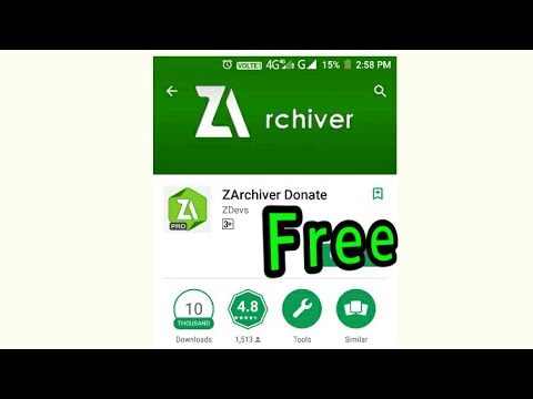 How to download and install Z archiever Pro APK in Android device  absolutely free???