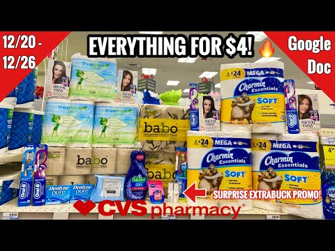CVS Free & Cheap Coupon Deals & Haul | 12/20 – 12/26 | Surprise Money Maker! | 🧻  Stock Up!🔥🙌🏽