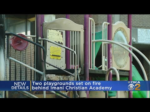 Two playgrounds set on fire behind Imani Christian Academy