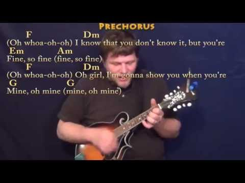Treasure (Bruno Mars) Mandolin Cover Lesson in Am with Chords/Lyrics
