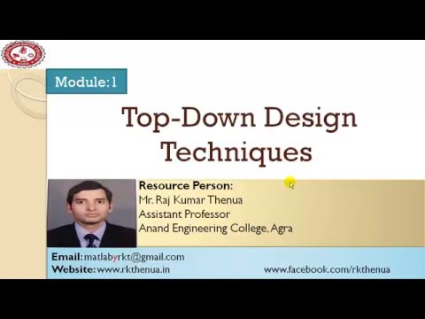 Lecture-22: Top down design techniques (Steps to solve a problem in MATLAB)
