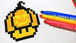 Dessin Pixel Art Champignon Youtube