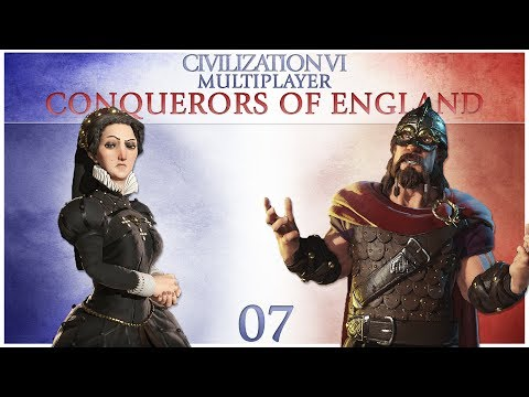 Civilization 6 Multiplayer - Conquerors of England - Episode 7 ...Betrayal!...