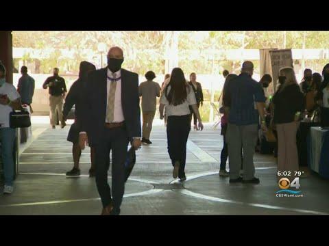 Job Fair Held At Miami Dade College