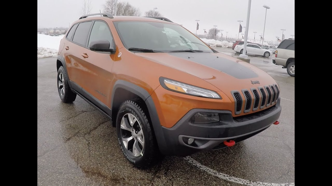 2015 jeep cherokee trailhawk 4x4 mango tango orange c doovi. Black Bedroom Furniture Sets. Home Design Ideas