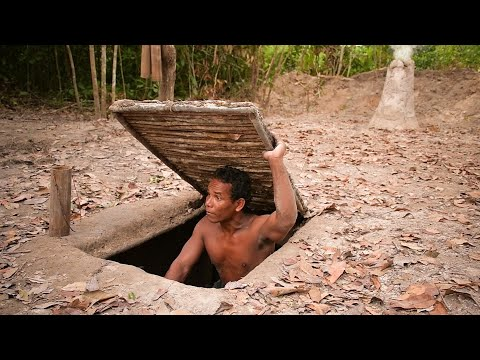Building The Most Ancient Secret Underground House & Swimming Pool