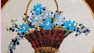 Hand Embroidery   Finishing the Basket