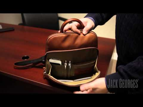 Jack Georges: Small Leather Backpack (SOHO COLLECTION #1835)