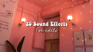 20 Sound Effects For Edits