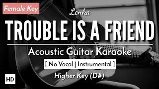 [Karaoke] Trouble Is A Friend - Lenka (Acoustic Guitar) (Lyrics)