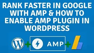 How to Rank Faster in Google with AMP and How to enable AMP plugin in Wordpress theme (Hindi)