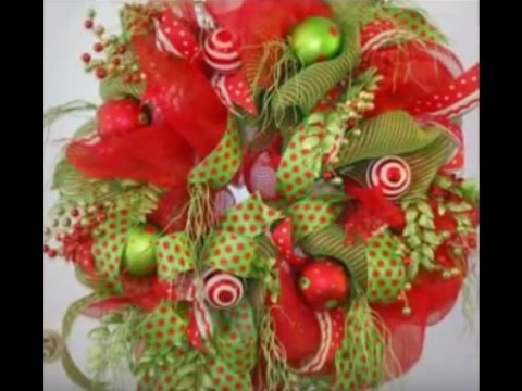 Brilliant Deco Mesh Christmas Door Wreath Video Youtube