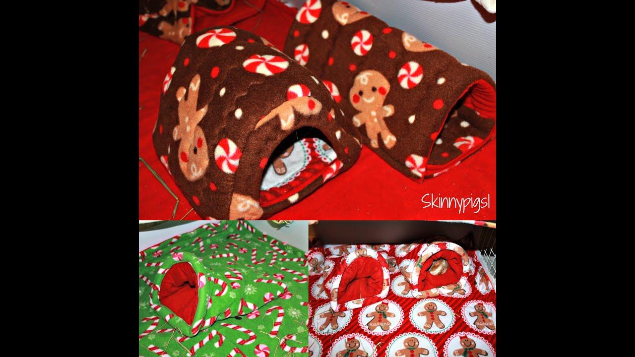 christmas fleece prints cc guinea pig cages - Christmas Fleece