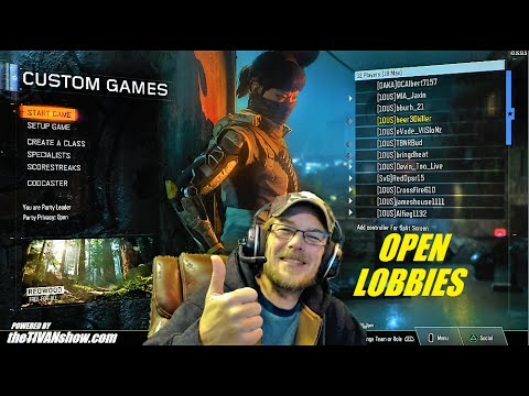 CALL OF DUTY : BO3 OPEN LOBBIES and CUSTOM GAMES / PSN BEER30KILLER JOIN IN - PS4
