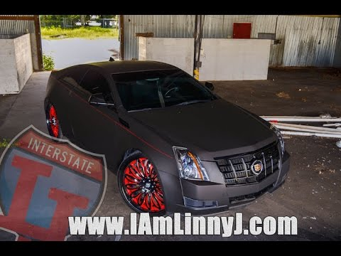 Linny J Matte Black Cadillac Cts On Lexani Forged 24 S By