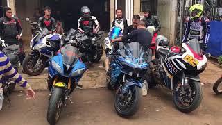 Đoàn moto PKL sau bị CSGT truy đuổi