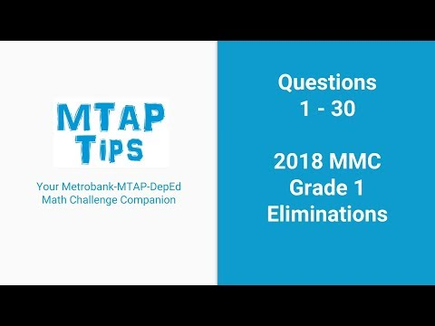 COMPLETE MTAP REVIEWER FOR GRADE 1 2018 MMC ELIMINATIONS