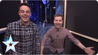 Ant & Dec caught spooning backstage! | BGT Unseen with Morrisons | Britain's Got Talent 2013