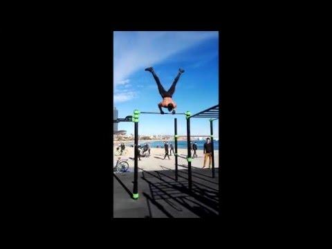 Barcelona Beach Gym Street Workout