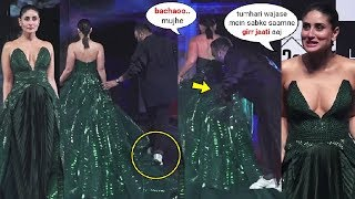 Kareena Kapoor Nearly FALLS Because Of Her Long Dress At Lakme Fashion Week 2020 GRAND Finale