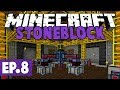 Minecraft StoneBlock - Lasers, Plastic Production & Colossal Chests! #8 [Modded Questing Survival]