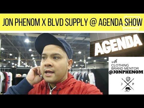 JON PHENOM X BLVD SUPPLY AT AGENDA SHOW   TRADE SHOW FOR CLOTHNG (Feb 2017)