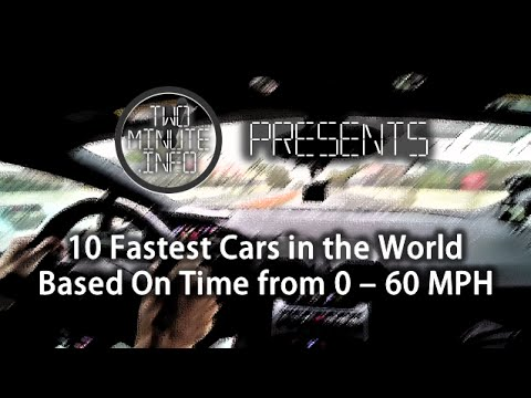 Worlds 10 Fastest Production Cars Based On 0  60 Times  YouTube