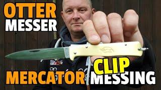 ✔ OTTER MERCATOR MESSING + CLIP / Catknife / Messerkontor