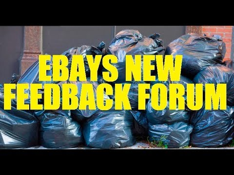 """Ebay - Lets talk about your """"New and Improved"""" Feedback Forum... Is this really the best you have?"""