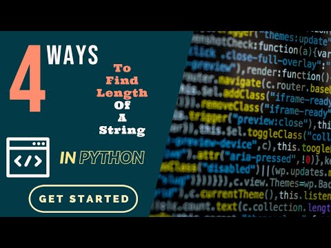Python Tutorial For Beginners (4 Simple ways to find the length of a string) - InFamousGeek thumbnail