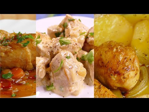 4 recetas de POLLO faciles y RAPIDAS de hacer