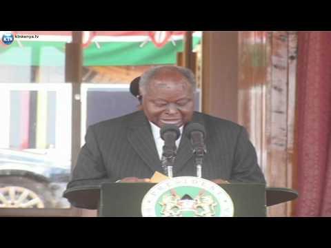 President Mwai kibaki  at Police pass-out parade
