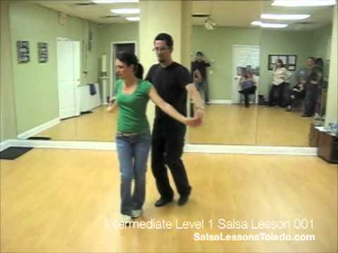 Salsa Dance Lesson, Intermediate Level 1, Toledo, Ohio 001