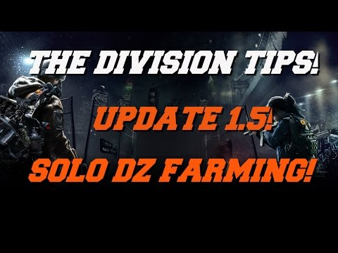 THE DIVISION - UPDATE 1.5 - SOLO DZ NAMED BOSS FARMING! HOW TO GET NINJA BIKE MESSENGER BAG - PART 1