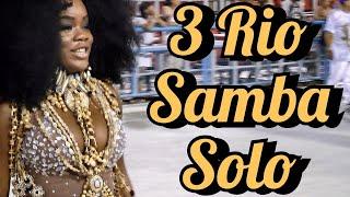 3 Rio SAMBA Solo Female Performances At Brazil SAMBADROME!!