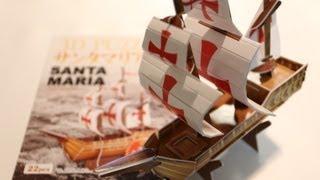 1 Dollar Papercraft Ship Santa Maria ~ 100均ペーパークラフト サンタマリア