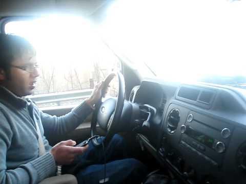 Poconos Mountain ice- In the car
