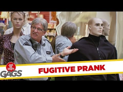 Fugitive Transforms Into Mannequin- Just For Laughs Gags