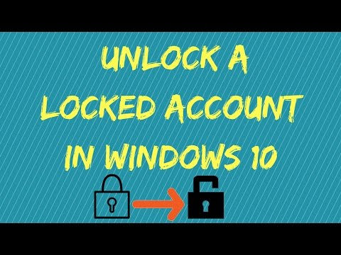 How to unlock a locked account in Windows 10 - YouTube