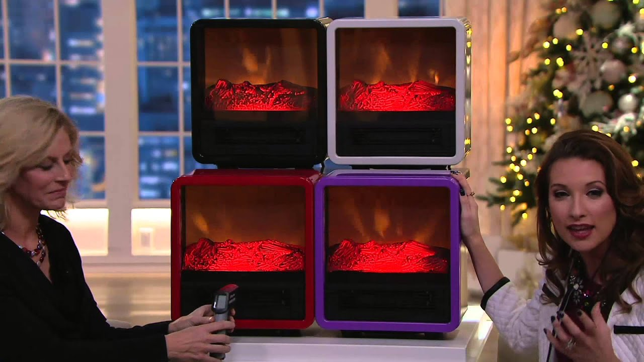 Exceptional Duraflame 1500W Small Portable Heater With Realistic Flame Effect On QVC    YouTube