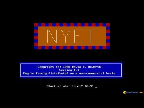 Nyet gameplay (PC Game, 1988) thumbnail