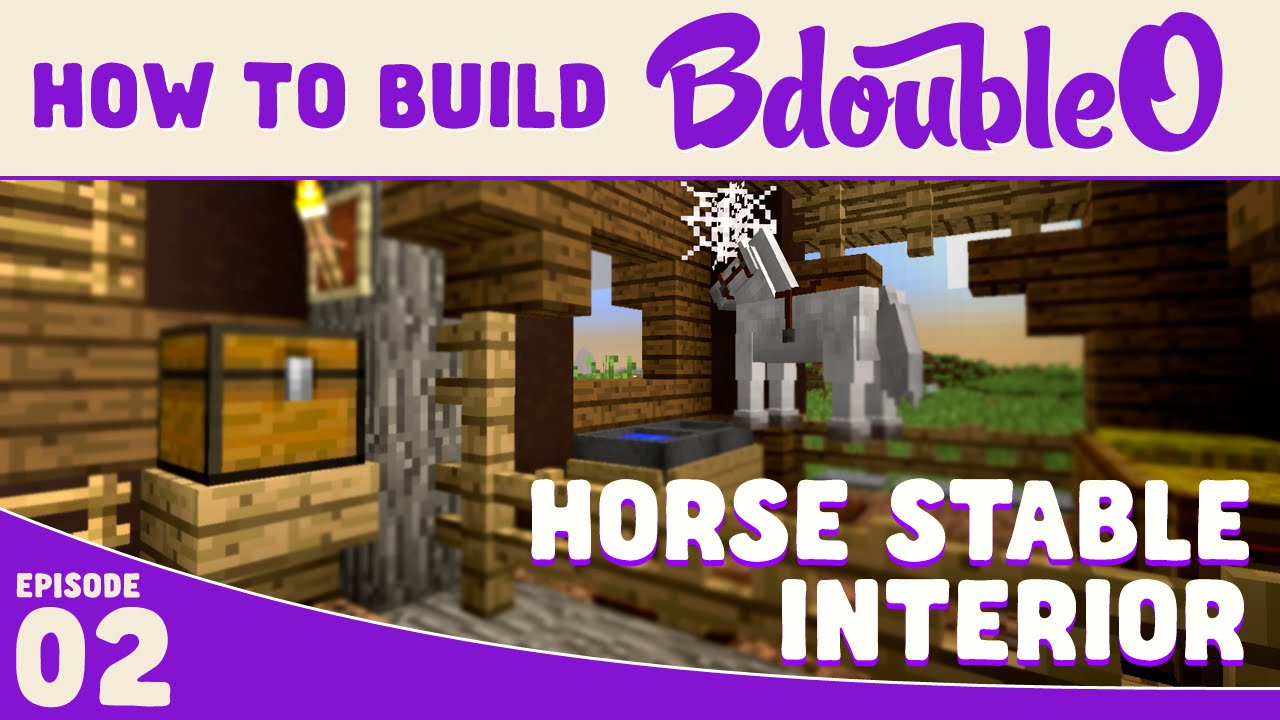 Minecraft How To Build Horse Stable Interior