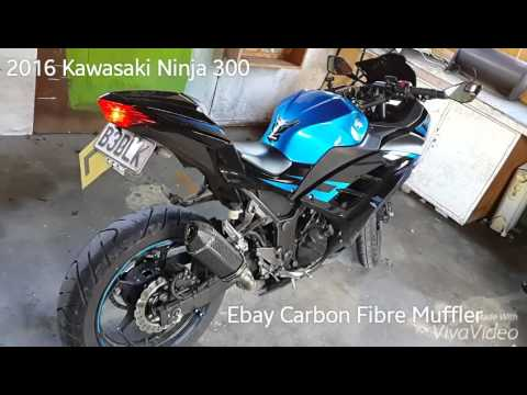 Kawasaki Ninja 300, Ebay Carbon Exhaust - YouTube