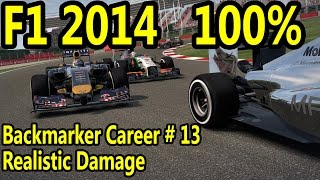 F1 2014 Gameplay PC : 100% Race Italy 1080p HD F1 Game Backmarker Career Mode.