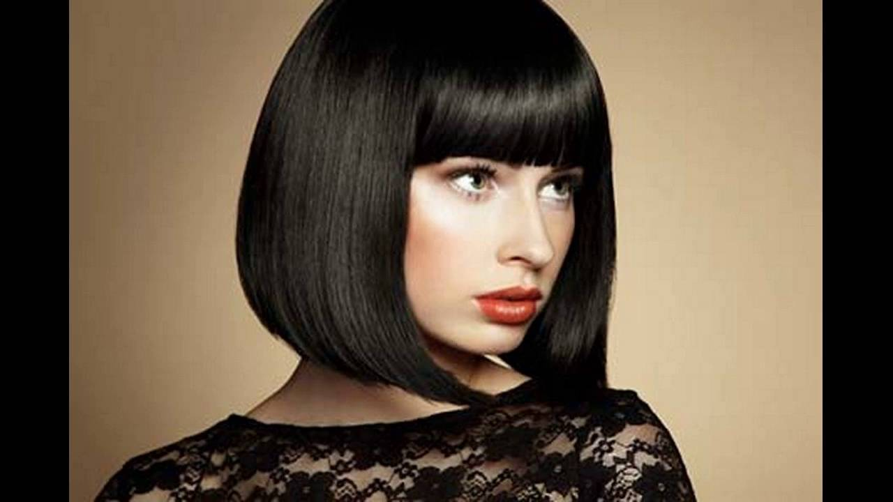 non-layered blunt cut suits best for thin hair women - youtube