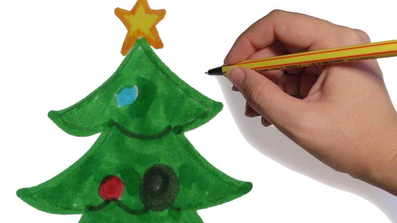 Como Dibujar Un Arbol De Navidad En Emoji Facil Paso A Paso A Color