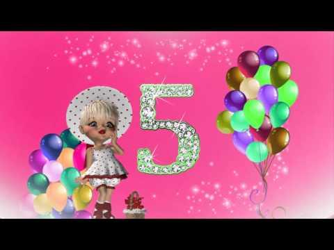 Футаж 5 лет девочка
